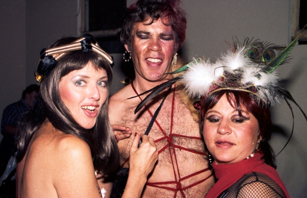 From left to right, Juliet Anderson, Michael, and me at a San Francisco Sex Information party