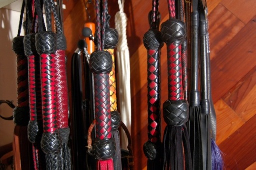 Cleo's floggers ... photo by Fakir